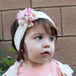 Other - Baby Girl head wrap, floral print headband newborn